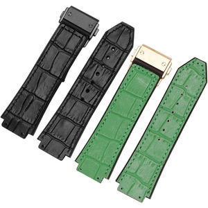 CICIDD Cow Leather Watchband Suitable For Hublot Classic Fusion Seris Silicone Watch Chain 19mm Convex Interface Men's Bracelet