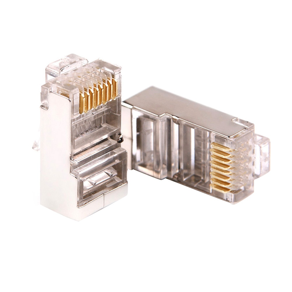 Gold Plated Cat6 RJ45 Ethernet Cables Convenient Practical User-friendly Design Module Plug Network Connector Crystal Head