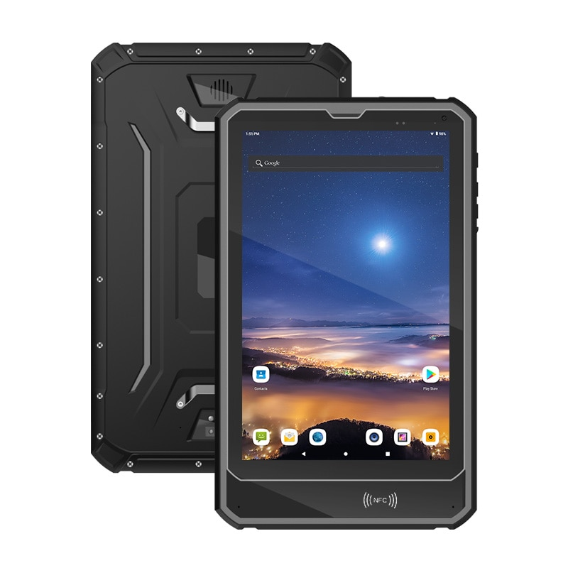 UNIWA Q10R  2 in 1 Smartphone NFC Tablet PC 9500mAh 10.1 inch IP68 Waterproof Rugged Android 9.0 MT6762 Octa 4G LTE 64GB Tablet