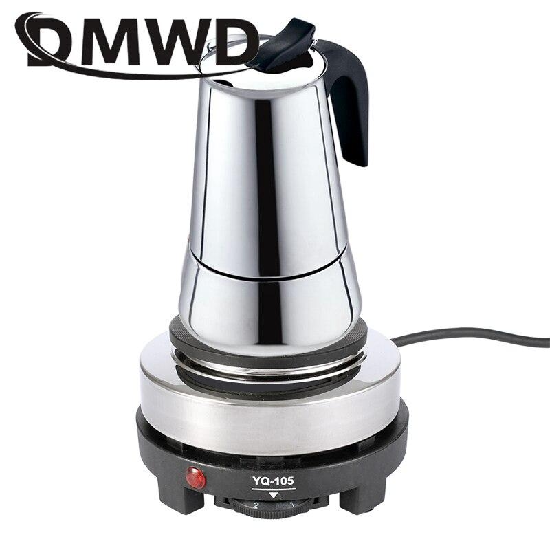 DMWD 110В/220В мини электрическая Moka печь плита многофункциональный кофе нагреватель Mocha нагревательная плита вода кафе молоко горелка
