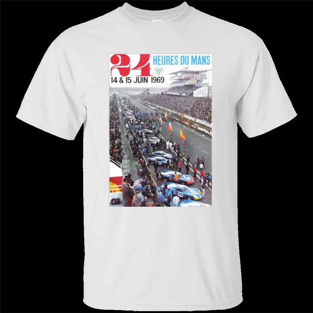 24 Heurs de hombre Le Mans 24 horas, Steve McQueen 1969, camiseta vintage, cuello redondo, Tops, camiseta