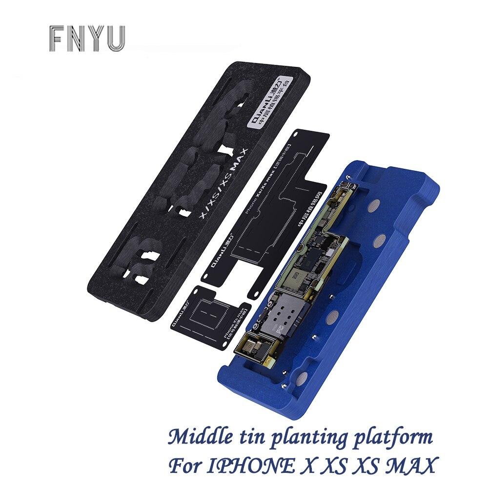 Plataforma de siembra de estaño de capa media Qianli para el mantenimiento de la placa base Max de iPhone X XS, herramienta de plantación de estaño de campo magnético fuerte