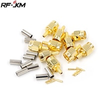 10Pcs High-quality SMA Male Plug crimp for RG174 RG316 RG178 RG179 LMR100 Cable RF Connector