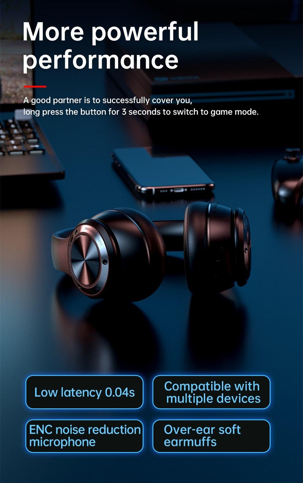 gaming headset estéreo com microfone sobre fone de ouvido para o telefone pc