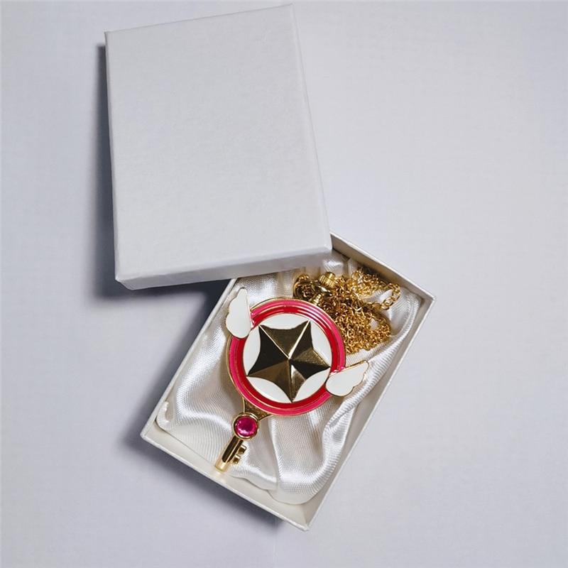 Tarjeta Captor dibujo niño adulto diamante bolsillo reloj Ángel ala hermosa chica adorable colegiala regalo