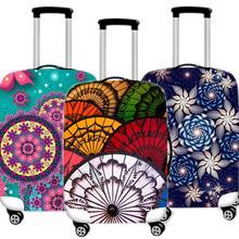 Yaratıcı baskı valiz koruyucu kapak elastik bavul durumda geçerlidir su geçirmez kalınlaşmak 18-32 inç seyahat aksesuarları