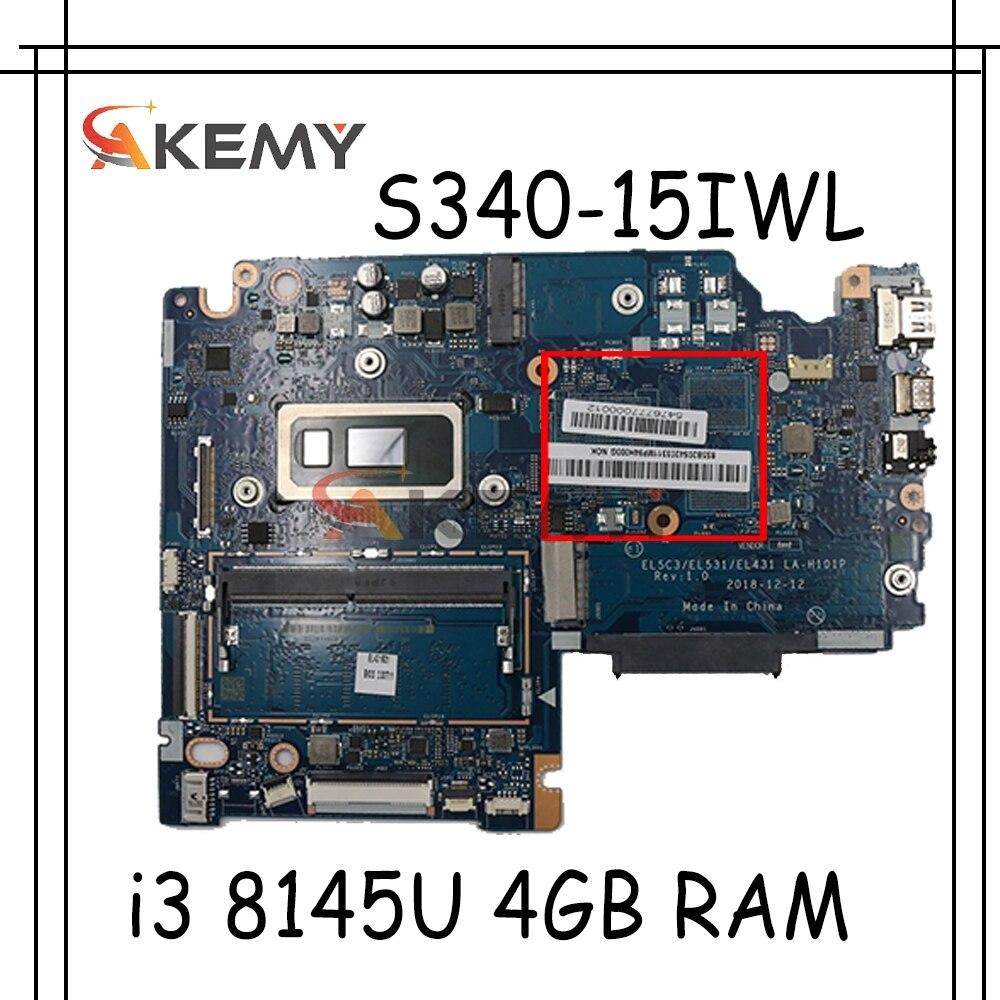 لينوفو S340-15IWL اللوحة الأم الكمبيوتر المحمول S340-14IWL EL5C3/EL531 / EL431 LA-H101P مع وحدة المعالجة المركزية I3 8145U 4GB RAM 100% اختبار العمل
