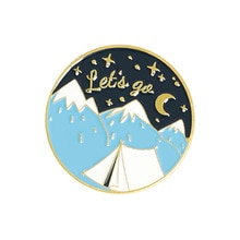 Beautiful Scenery Enamel Pins Snow Mountain Pine Tree Brooches Backpack Badges Gifts For Travel Love