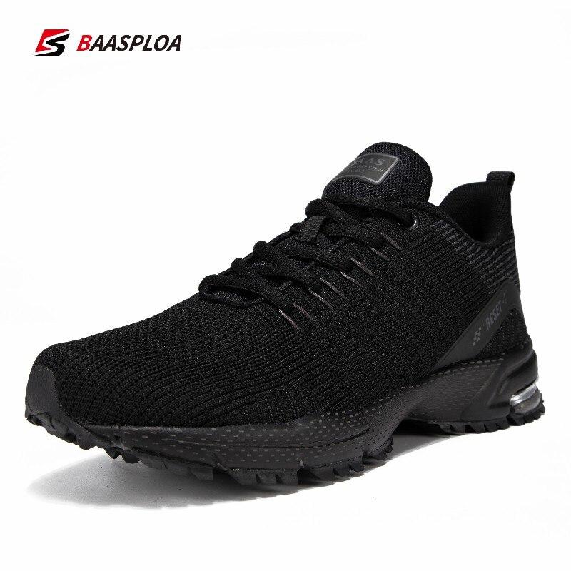 Брендовые мужские кроссовки Baasploa, легкие вязаные сетчатые кроссовки, Нескользящая дышащая спортивная обувь, амортизирующая прогулочная об...