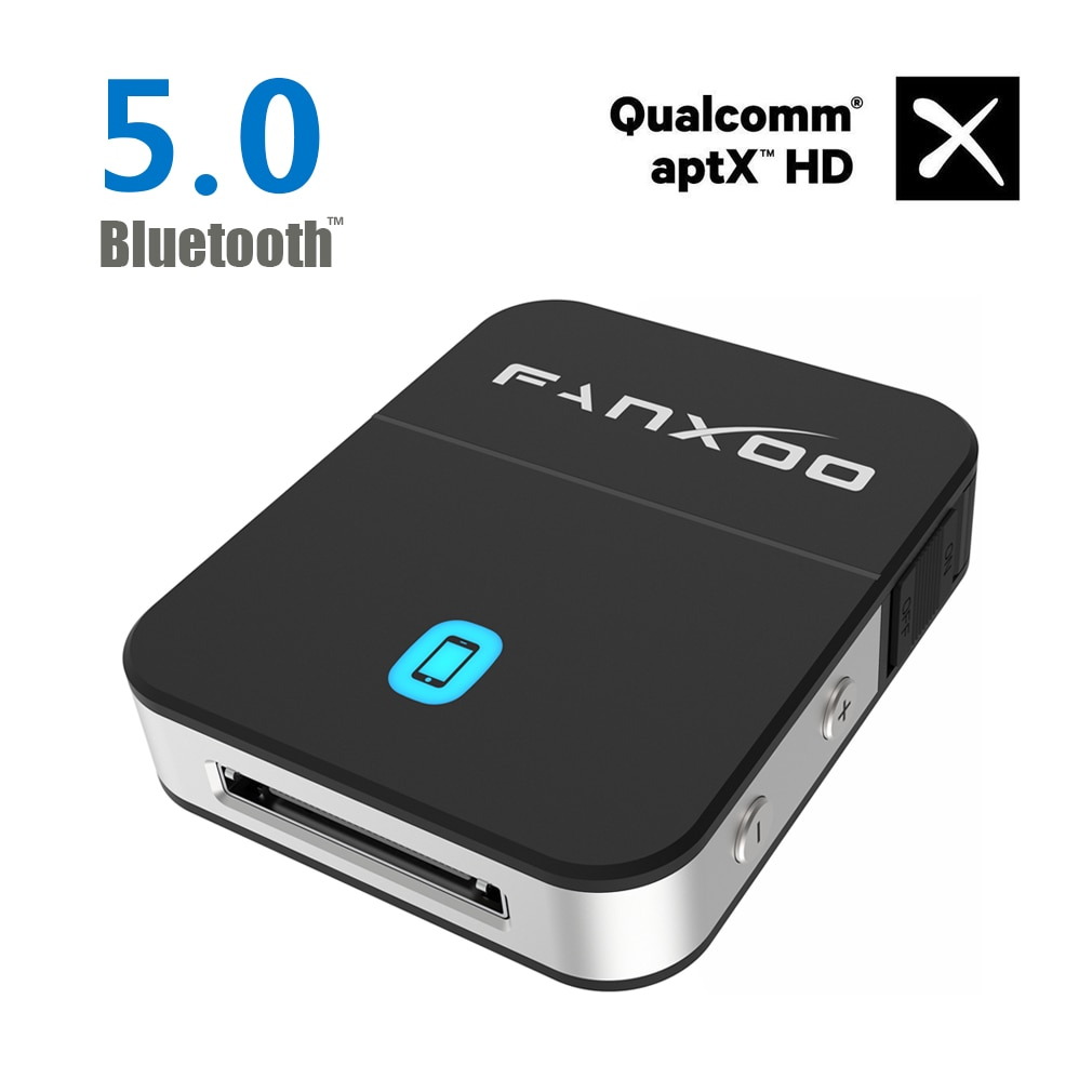 DockPro بلوتوث محول ل بوس Sounddock 30pin آي بود الإرساء بلوتوث 5.0 aptX HD متوافق ل آيفون آي بود محطة الإرساء