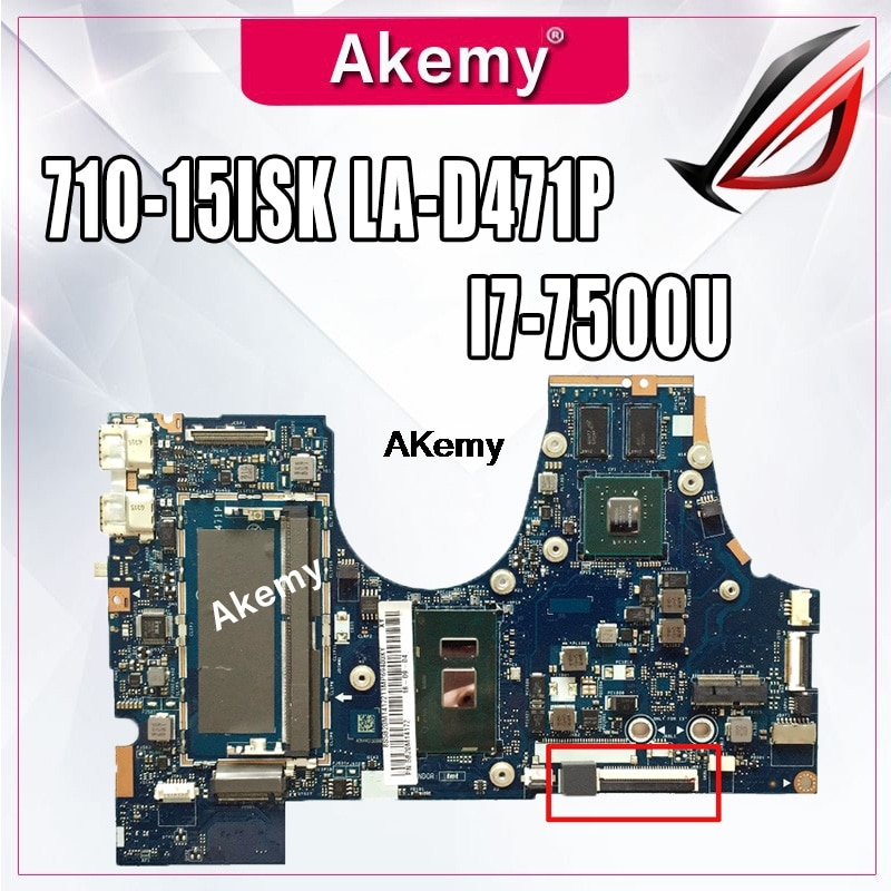 710-15ISK اللوحة لينوفو اليوغا 710-15ISK 710-15IKB 710-15 LA-D471P اللوحة المحمول I7-7500U GT940M 100% اختبار موافق