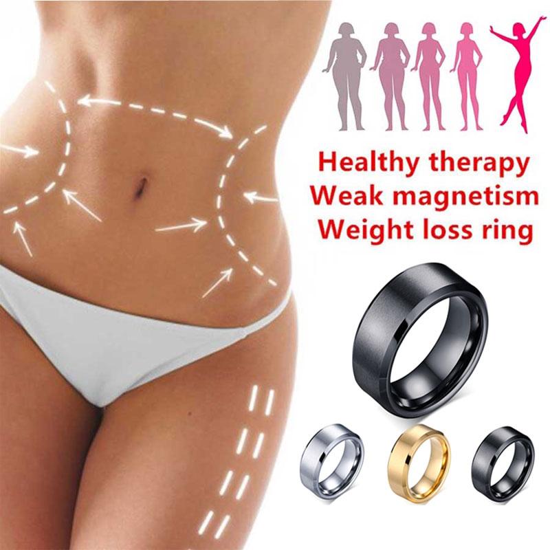 Anillo de pérdida de peso magnético médico magnético herramientas adelgazantes Fitness anillo de reducción de peso anillo de acupuntura estimulador anillo de piedra biliar