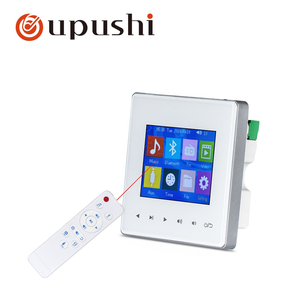 Oupushi AG-3, controlador de música de fondo, Sistema de música, audio en casa, host, bluetooth, TF/USB, mando a distancia