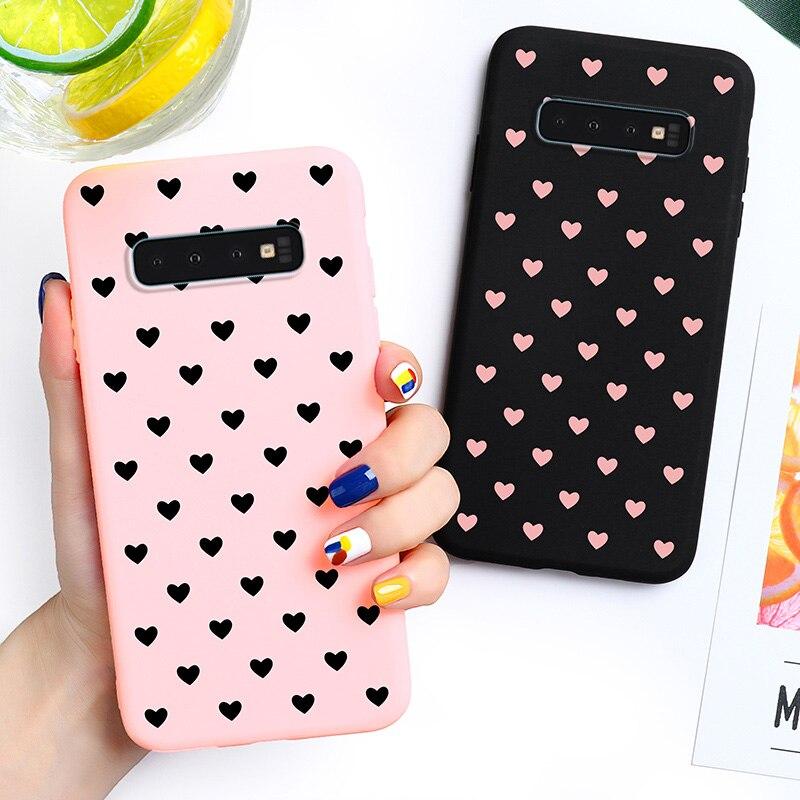 Amor corazón caja de dulces para Samsung Galaxy S10 Samsung Galaxy S10 G9730 G973F 6,1 pulgadas cubiertas silicona suave TPU Capa carcasa