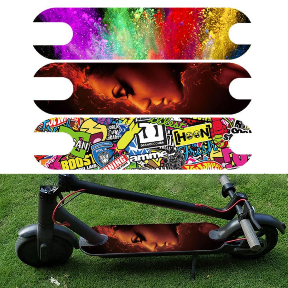 DIY наклейки на педали скутера наклейка для Xiaomi M365 электрический скутер водонепроницаемая лента для ног наждачная бумага пвх наклейка на скейтборд
