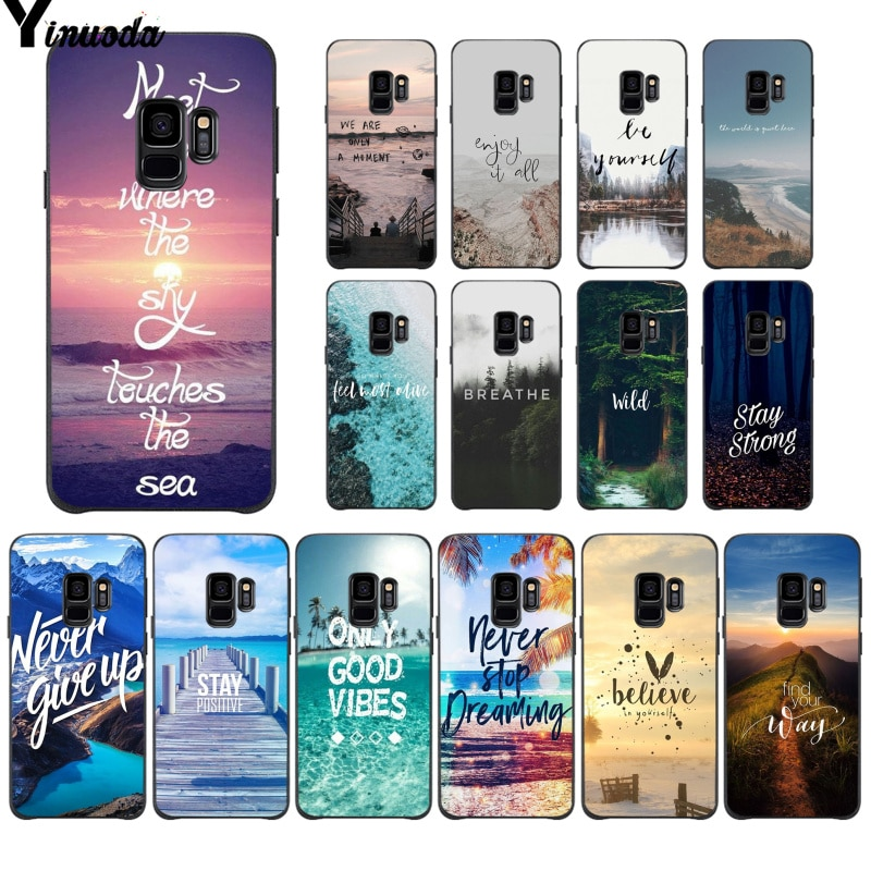 Yinuoda Travel mountain sea beach quotes Soft TPU Phone Cover for Samsung S9 S9 plus S10 S6 S6edge S10plus S7 S7edge S8 S8plus
