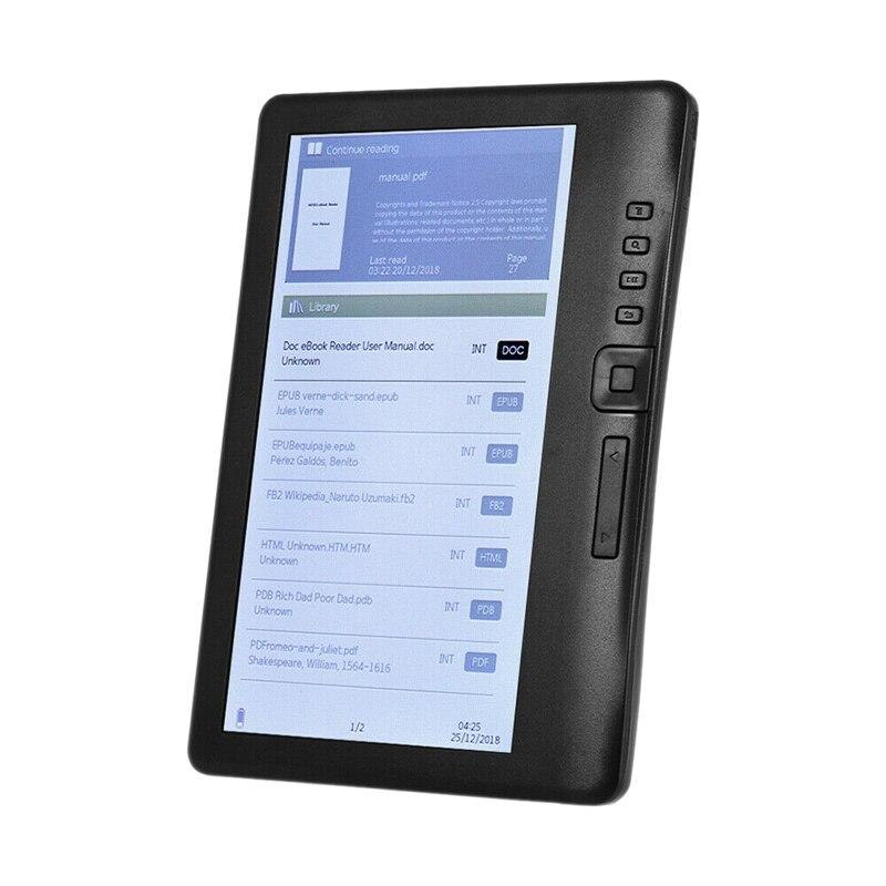 ¡Oferta! 3C-LCD 7 pulgadas lector de libros electrónicos pantalla a Color inteligente con resolución HD E-Book Digital Video MP3 reproductor de música (8GB)