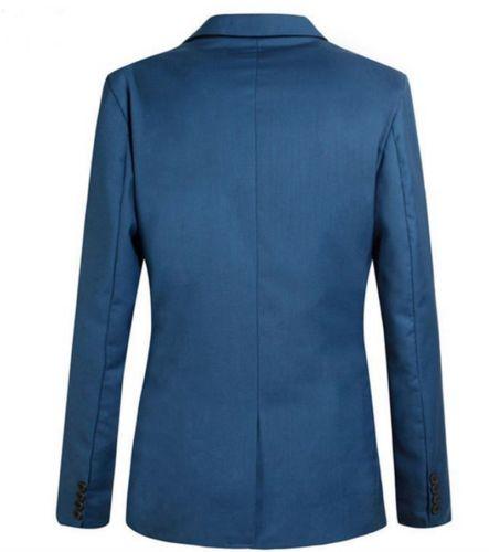 Fashion Men's Slim Fit One Button Suit Blazer Business Coat Casual Pocket Jacket Plus size S-4XL