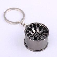 9CM Fun blagues accessoires nouveauté voiture roue métal porte-clés turbocompressé métal Fun jouets porte-clés jouet cadeau Fun accessoires unisexe