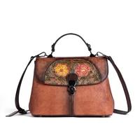 a hundred stylish cowkin womens bag fracking retro hand colored hand colored hand slanted cross girl bag head layer leather bag