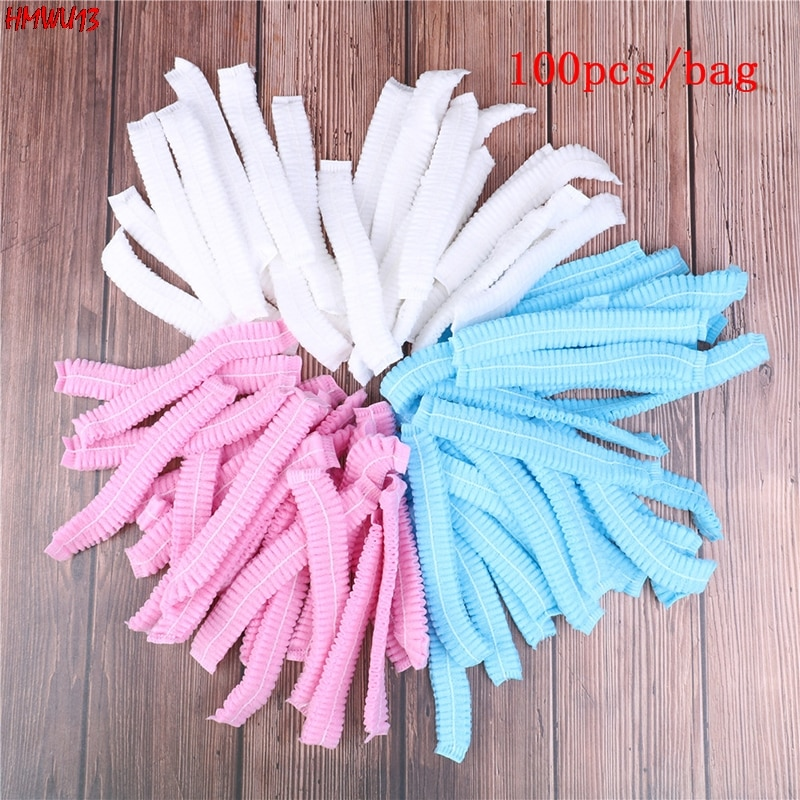 100pcs Disposable Microblading Sterile Hat For Eyebrow Tattooing Catering Hat Makeup Hair Net Caps S
