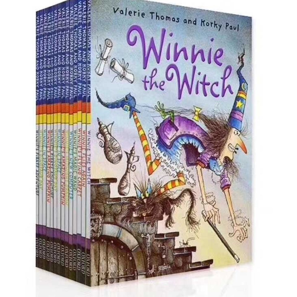 14 Book/Set English Picture Book Winnie The Witch English Story Book Child Early Education Kids Reading Book 3-6 Years