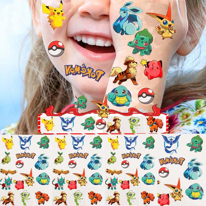 adesivi-per-tatuaggi-pokemon-pikachu-impermeabile-originale-takara-tomy-adesivo-carino-kawaii-cartoon-natale-compleanno-regalo-per-ragazze-per-bambini