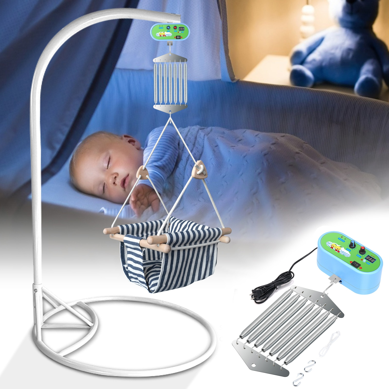 Baby Cradle Controller With Germany Adaptor EXternal Power Auto Rock Play Vibrating Sleeper Baby Swing Replacement Motor