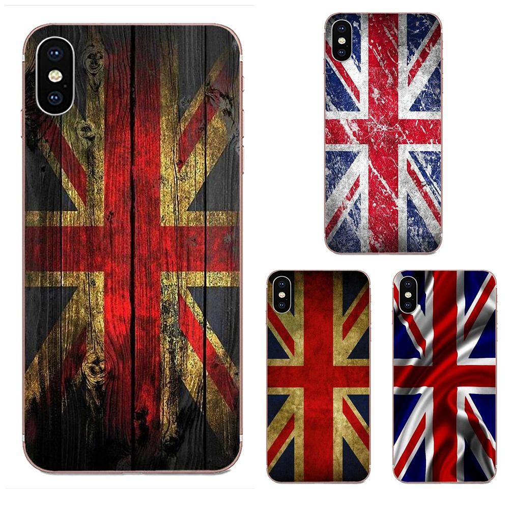 Мягкий ТПУ милый чехол английский британский английский флаг Великобритании Юнион Джек для Apple iPhone 11 Pro X XS Max XR 4 4S 5 5C 5S SE 6 6S 7 8 Plus