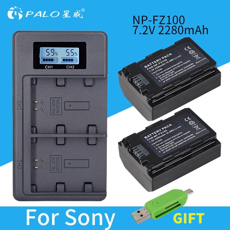 PALO NP-FZ100 NPFZ100 NP FZ100 batería + LCD doble USB cargador para...