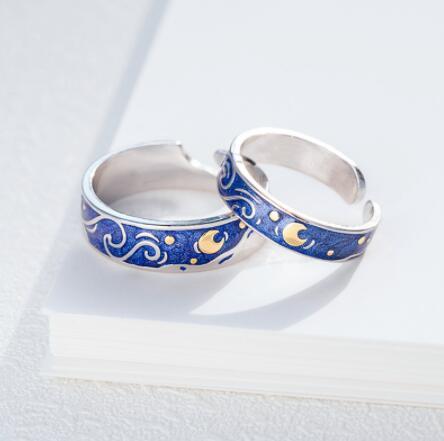 collares de moda 2020 Starry Night Designer Art Ring hip hop jewelry e boy girl Ring igirl 90s aesthetic accessories