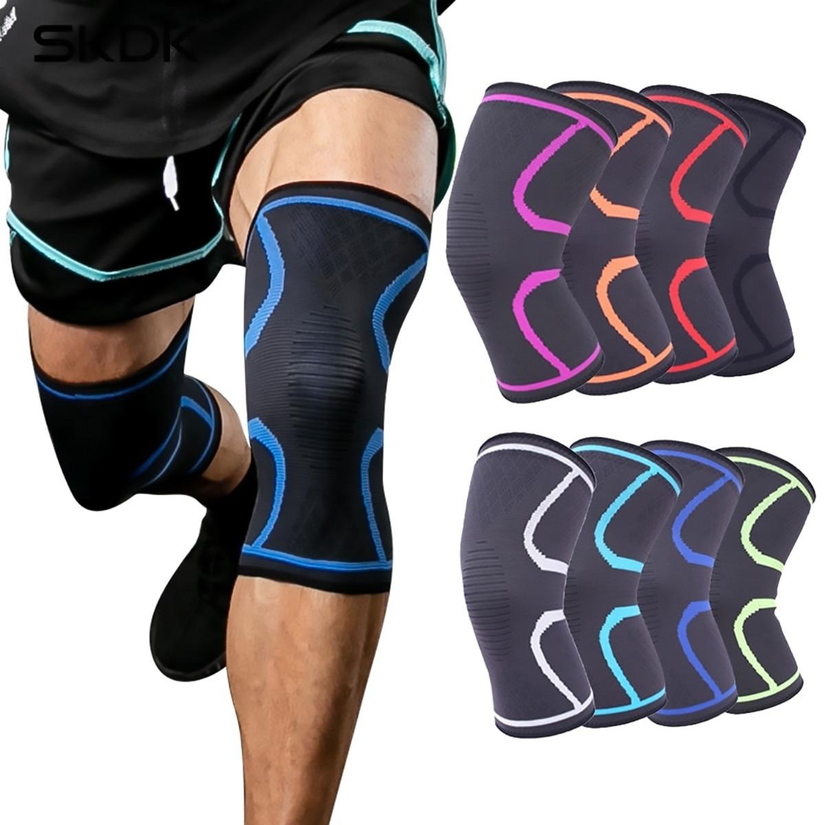 1 rodillera deportiva de nailon elástico para baloncesto, voleibol, Fitness, Running, artritis y músculo