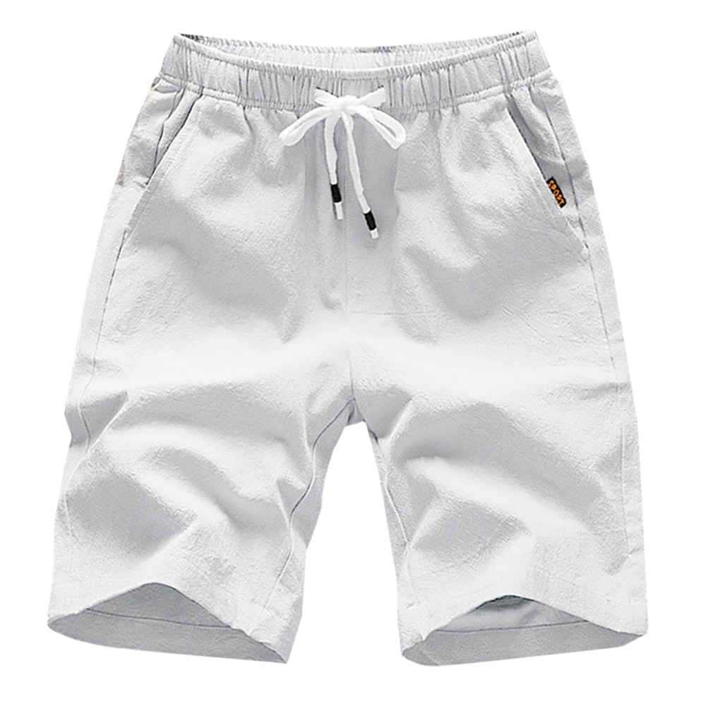 Горячая 2021 новые летние повседневные шорты для мужчин; Однотонные хлопковые модные Стиль мужские шорты пляжные шорты размера плюс короткие...