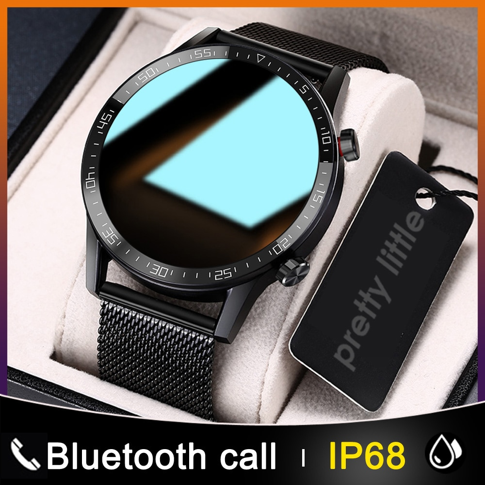 New L13 Smart Watch Men IP68 Waterproof ECG PPG Bluetooth Call Blood Pressure Heart Rate Fitness Tracker Sports Smartwatch
