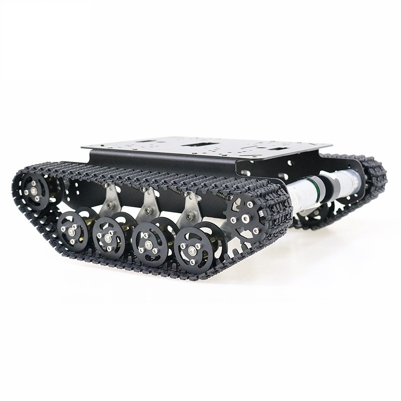 Black Shock Absorber Metal RC Robot Tank Chassis Kit Mobile Platform for Arduino Uno r3 Raspberry Pie DIY Toy Parts enlarge