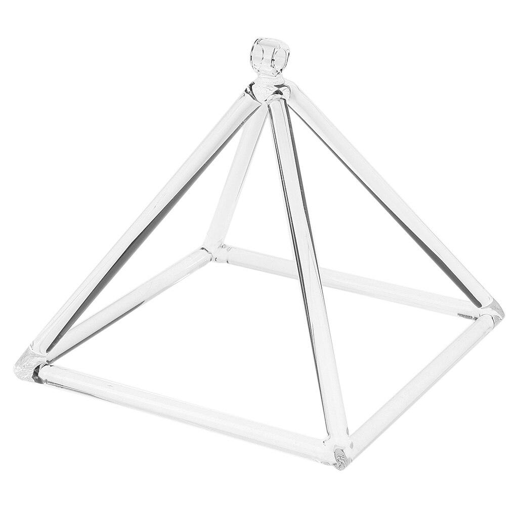 SANE Musical insermento de cristal de cuarzo cuenco de cantante pirámide D nota + gamuza mazo para la oración de Yoga-8 pulgadas