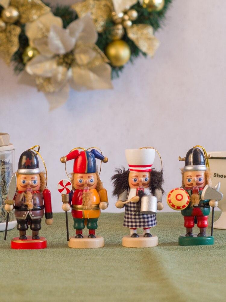 10cm Cascanueces casa creativa sala de estar decoración de la habitación de los niños pequeños adornos de marionetas soldado Decoración