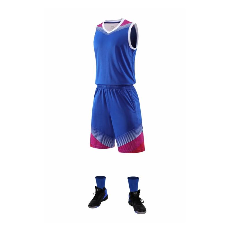 ¡Novedad! Camiseta de baloncesto para hombre, conjuntos de uniformes de baloncesto para equipo universitario