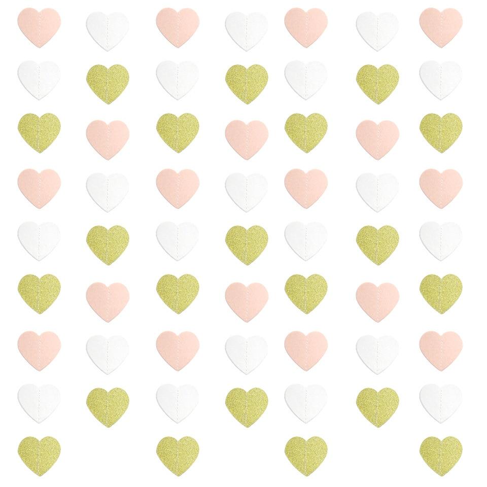 2.2M coeur papier suspendus chaîne guirlande décoration coeur forme fête mariage
