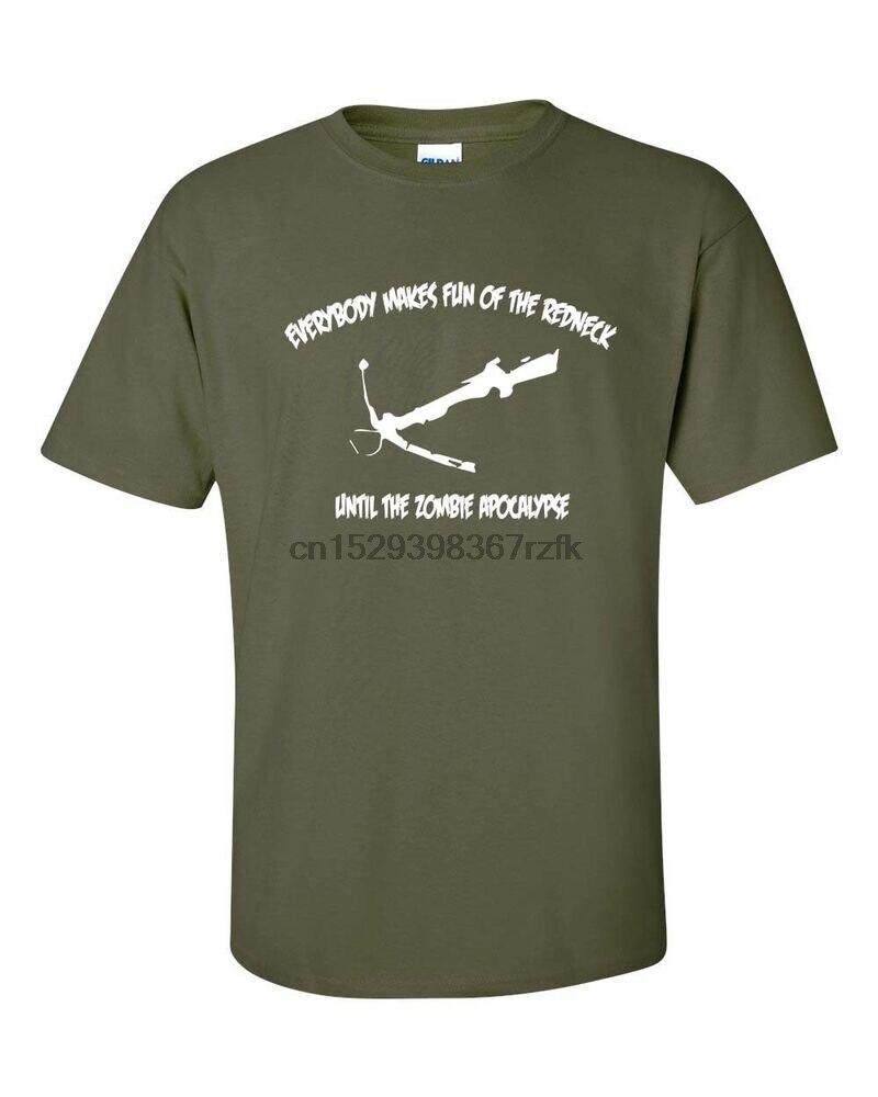 Daryl Zombie Redneck Crossbow Apocalypse Everybody Funny Mens Tee Shirt 144(1)