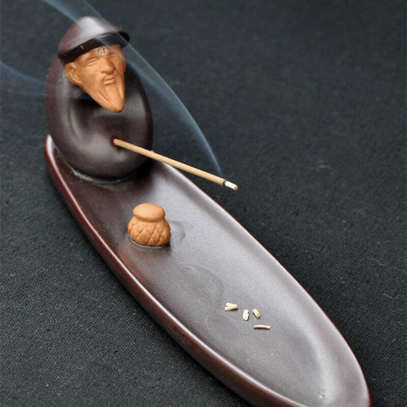 مبخرة على طراز زن ، ديكور طاولة إبداعي ، منزل بورسلين ، شاي ، حيوان أليف ، قارب صيني ، للبيع