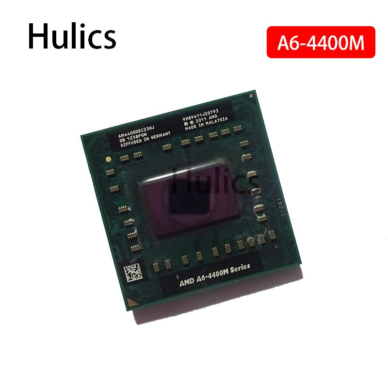 Hulics Original AMD Dual Core A6-4400M 2,7 Ghz A6 4400M AM4400DEC23HJ A6-Series CPU de portátil