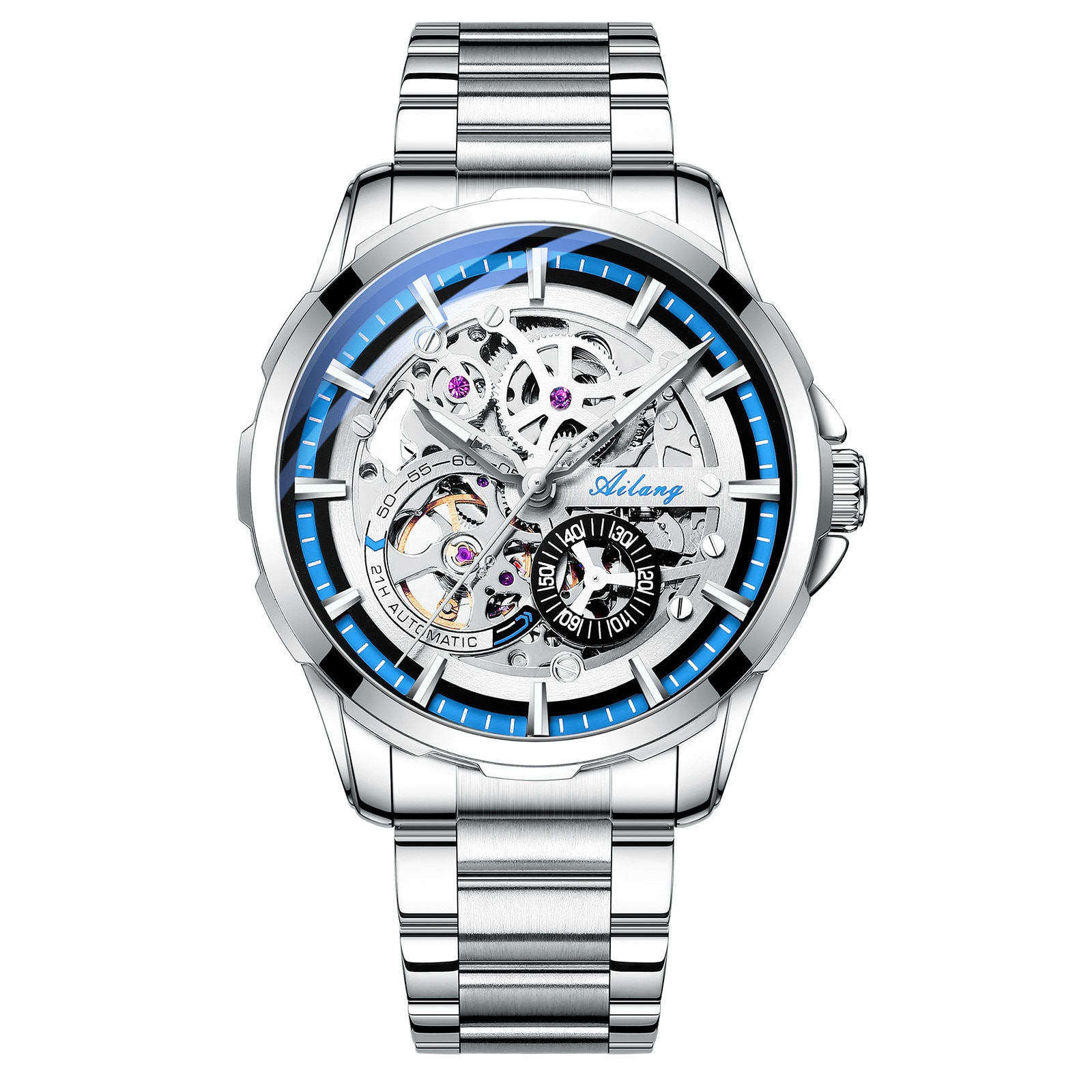 Hollowed Out Personalized Full-automatic Mechanical Watch Waterproof Men's Watch New Fashion enlarge