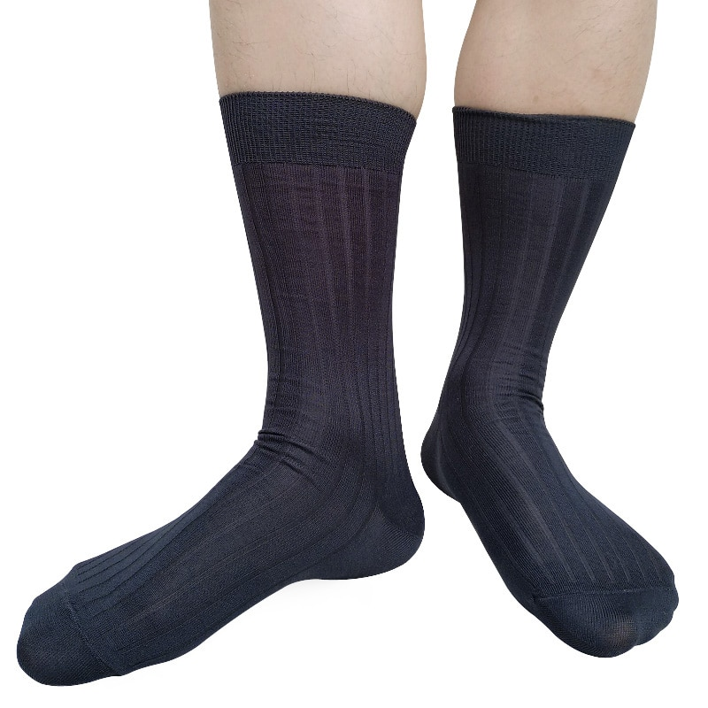 Полосатые мужские деловые носки, мягкие дышащие высококачественные мужские носки джентльменов, официальный костюм, мужские длинные носки, ...