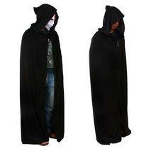 NEW Unisex Adult Men Hooded Cape Long Cloak Black Halloween Costume Dress Coats