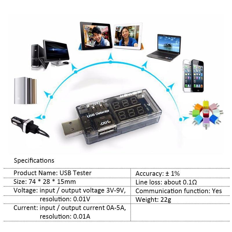 Blue Red Dual Display USB Tester 5V 12V Digital Voltmeter Ammeter Car Voltage Meter Detector Monitor Power Bank Charger Doctor