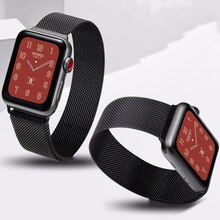 Ремешок для Apple watch band 44 мм 40 мм 38 мм 42 мм 44 мм, металлический браслет из нержавеющей стали с магнитной петлей для iWatch 3 4 5 6 se band
