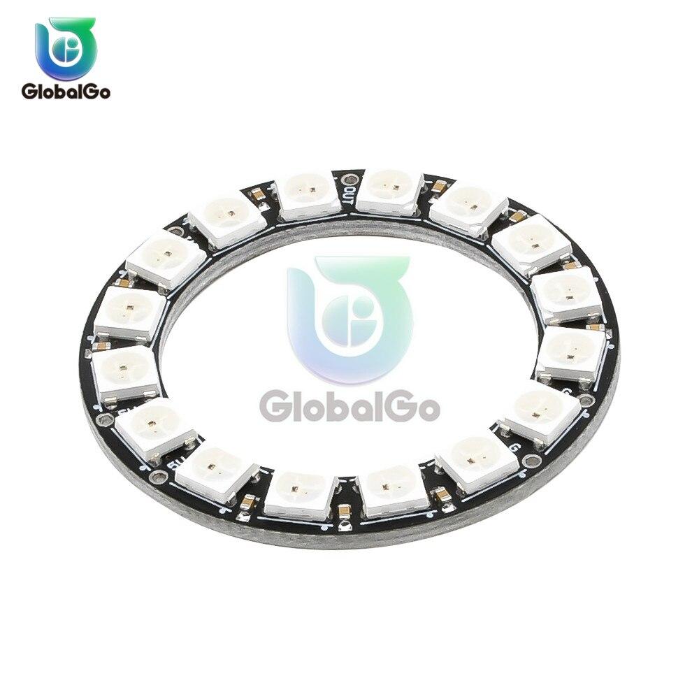 WS2812 Chip LED SMD 5050 RGB DC5V DIY RGB LED anillo módulos redondos Círculo LED lámpara de luz