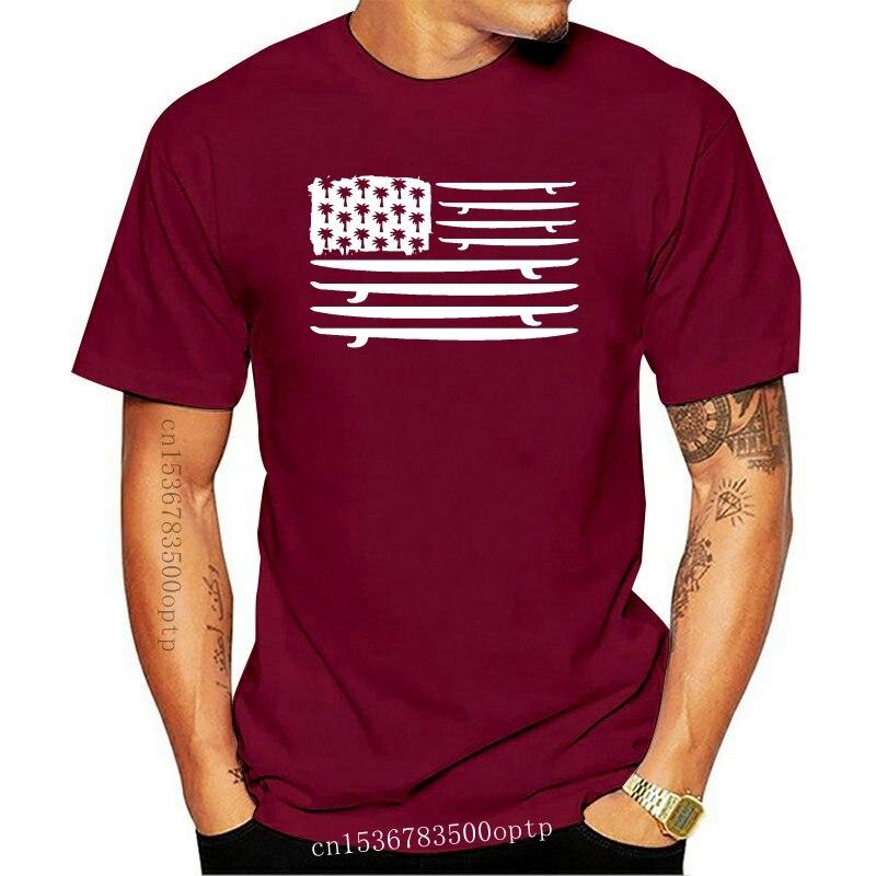 Americano Surf bandera camiseta Surf placa camiseta surfista Huntington Beach Teefashion 2020...