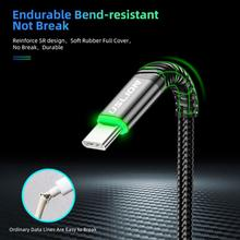 3.0A Type-C Cable LED Android Mobile Phone Charger Fast Charging Type-C Data Cord For Xiaomi Huawei